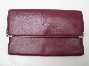 Cartier Leather Pretty Portafoglio Paris Companion Vintage SwAqnP