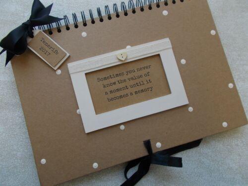 Personalised Handcrafted A4 Memories Scrapbook Photo Album Multi Use QUICK POST
