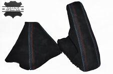 BLACK PU SUEDE M COLOURS STITCH GAITERS FITS BMW 1 Series E81 E87 E82 E88 04-13