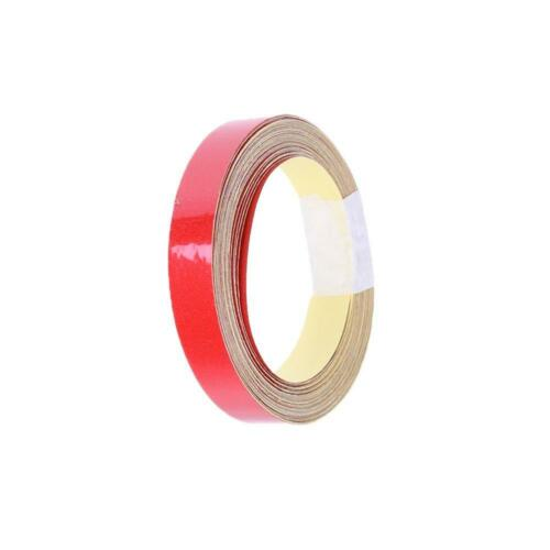 Red 1cmx5m Car Reflective Tape Automobile Motorcycle Warning Sticker #Z