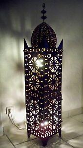 130 Cm Lampe Marocaine Lanterne Lustre Bougeoir Bougie Applique