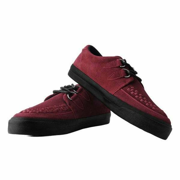 T.U.K Vlk No-ring Vulcanized Velvet Womens Rose Fabric Creeper Trainers