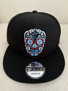 New Era Miami Marlins 9Fifty 950 Sugar Skull Day of the Dead Hat Snapback NEW