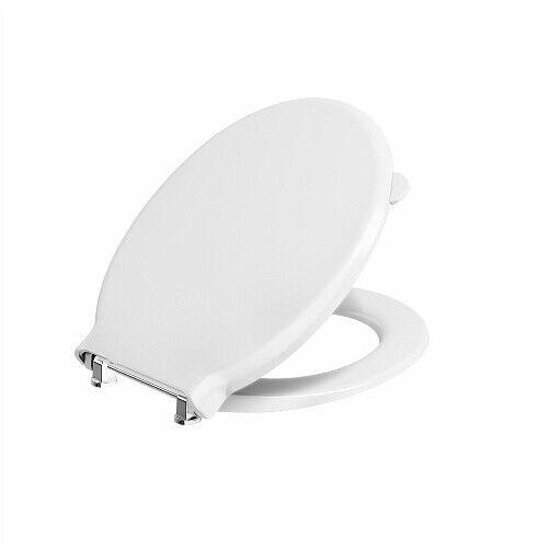 AV7875WH TWYFORD AVALON SOLA WC TOILET SEAT /& COVER BAR HINGE TOP FIX WHITE NEW