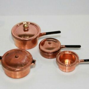 DOLLSHOUSE 1//12th SCALE 5 COPPER COOKING TOOLS
