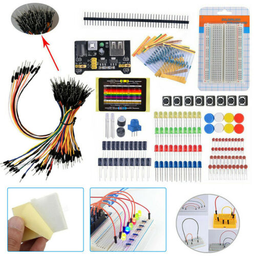 Beginners Electronic Learning Starter Kit Breadboard Components Projects Tool UK