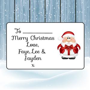 personalised christmas labels tags 4 designs santa reindeer