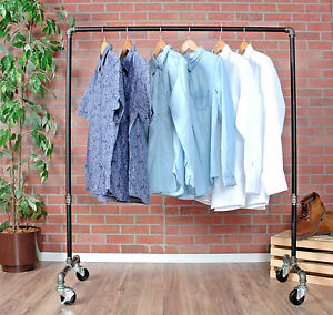 Image Is Loading Clothes Rack Rolling Clothing Rack Garment Rack Pipe