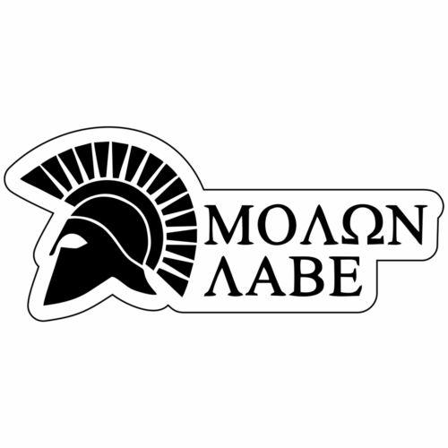 4x1.75 inch Sticker Molon Labe Spartan Helmet