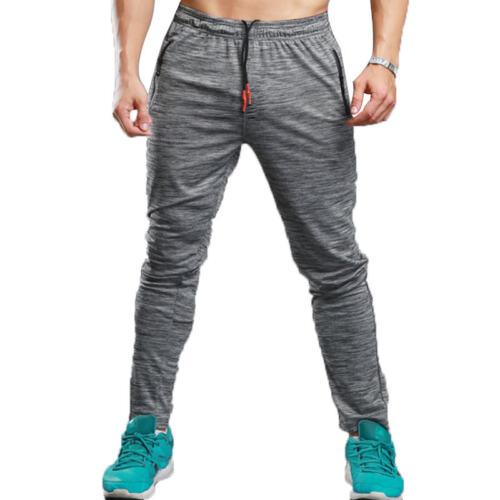 Mens Running Gym Pants Slim Jogging Sports Sweatpants Skinny Tracksuit Trousers