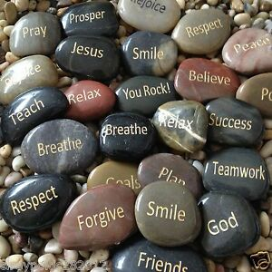 engraved stones river rocks with inspirational words