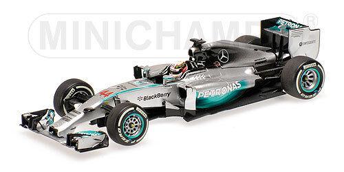 MINICHAMPS - MERCEDES AMG PETRONAS F1 Hamilton W05 WINNER BAHRAIN GP 2014 1 43