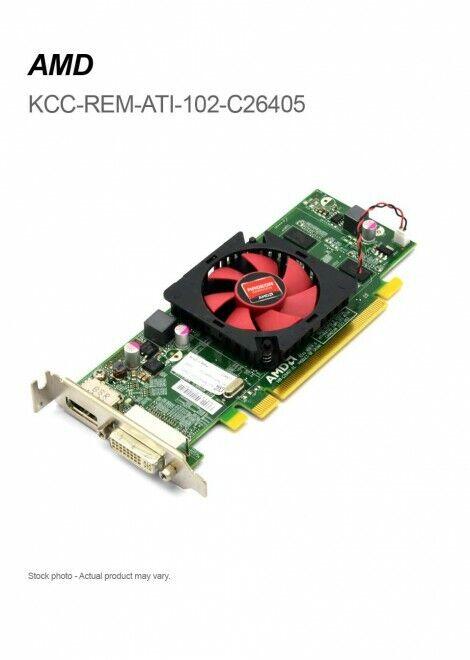 DELL AMD Radeon HD6450 1GB LP DVI & Display Port PCI-E With DVI to VGA Adapter