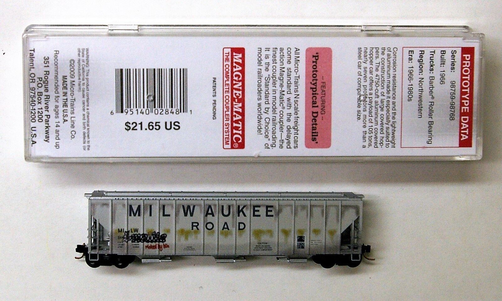 MTL Micro-Trains 99050 Milwaukee Road MILW 98762 FW Factory Weathered