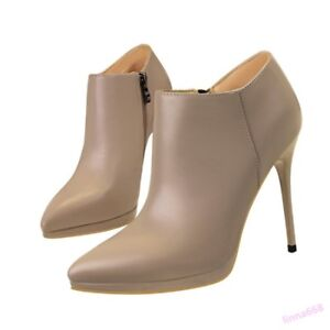 Fashion-Women-039-s-Shoes-Ankle-Boots-High-Stiletto-Heel-Pointed-Toe-Sexy-Nightclub