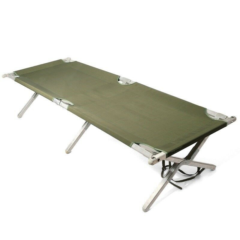 US Army Military Army ALU Folding COT all'aperto campo letto XL 210 x 65 x 42 cm