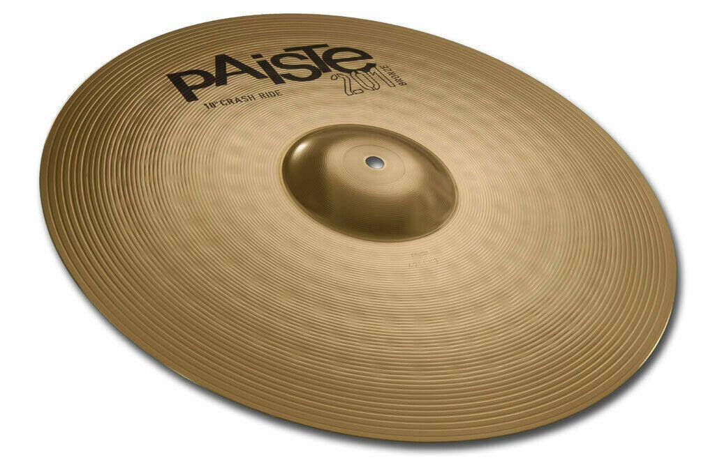 Paiste 201 Bronze Universal 18  Crash-Ride Cymbal New W-Warranty 144618-U
