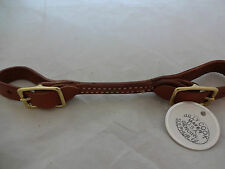 Billy Cook Saddle Round Bit Curb Strap Horse Headstall Leather Brass CHN Tack