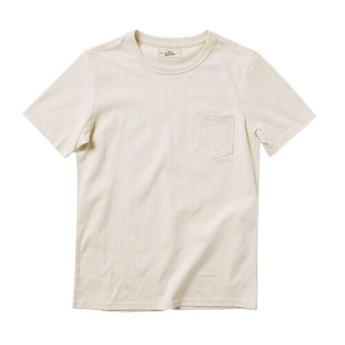 Men's Vintage Workwear Inspired Clothing   Red Tornado Cotton Pocket T-Shirt Heavyweight Mens Basic Training Tee Shirts $29.99 AT vintagedancer.com