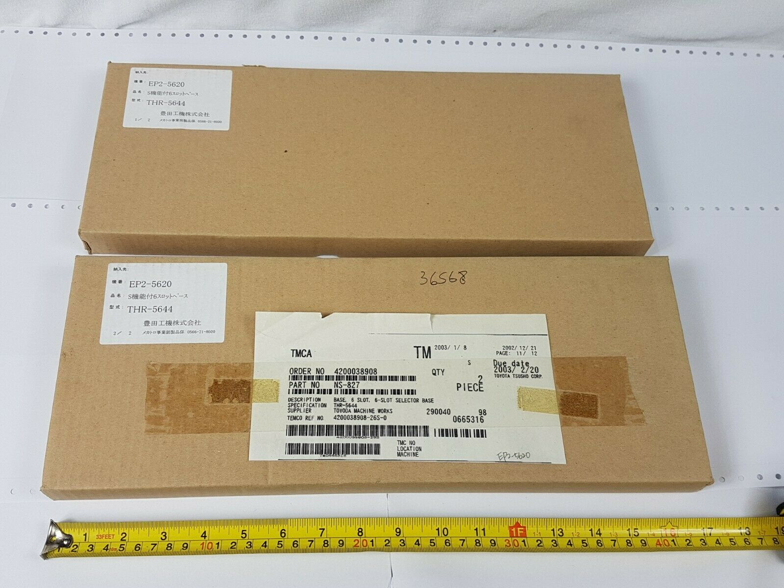 Toyopuc THR-5644 6-slot Selector Base NS-827 Jtekt Toyoda TP-4621-1 New