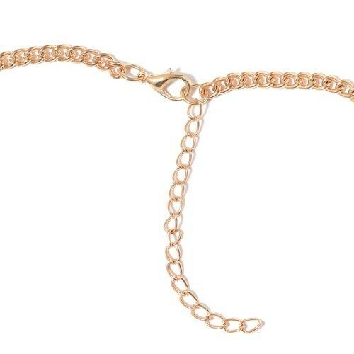 """Simulated Diamond /& White Moonstone Necklaces Size 20/""""+2/"""" In Gold Tone"""