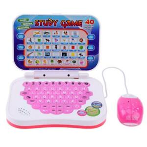 Bilingual-Early-Educational-Learning-Machine-Kids-Laptop-Toys-with-Mouse-8Y