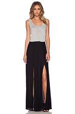 L'AGENCE Black Double Slit Maxi Skirt Size:4  $375 NWT