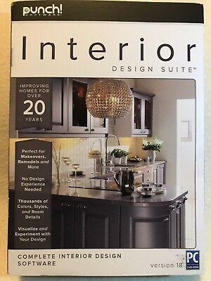 Punch Interior Design Suite V18 New Retail Box Dvd Plus Digital Download 705381415183 Ebay