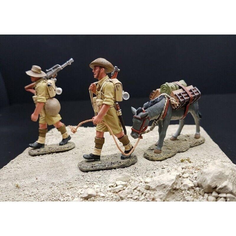King & COUNTRY-2 Soldaten Infanterie Australian in Schritte, 8th Armee Britische