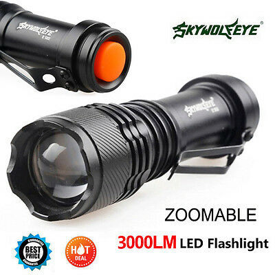3000LM Q5 AA/14500 3 Modes ZOOMABLE LED Flashlight Torch Lamp Super Bright