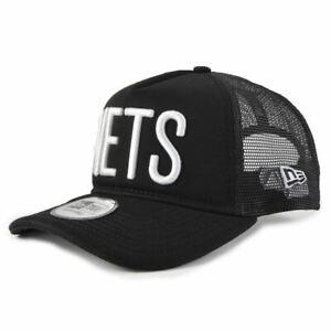 e6ee751e5abd Detalles de Gorra New Era Ajustable Nba Brooklyn Nets Team Trucker Colour  Block Negro Hombre