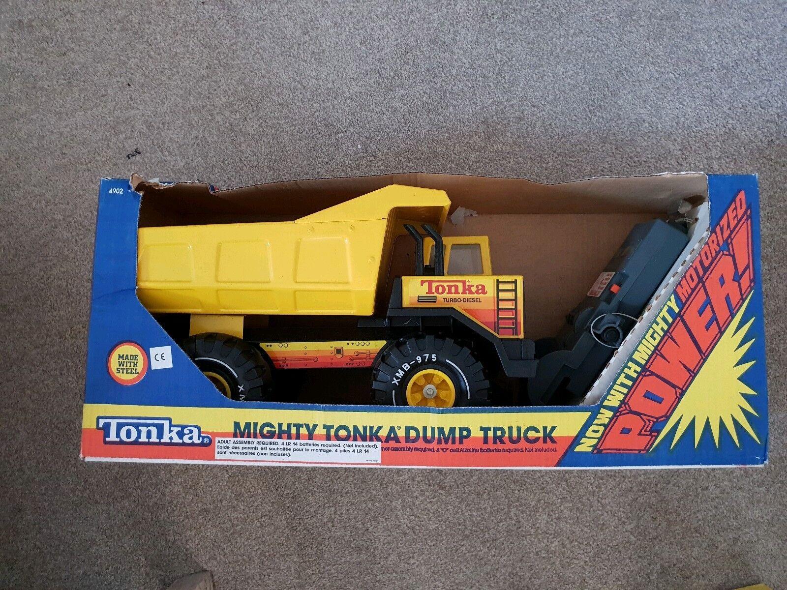 TONKA motorisé Mighty camion benne 1989 vintage rare NEUF
