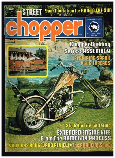 STREET CHOPPER OCTOBER 1972 SEE CONTENT AEE 70s STYLE