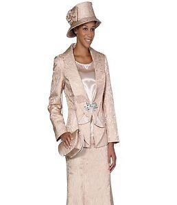 Sunday Best Women Church Suit Soft Crepe Fabric Standard To Plus