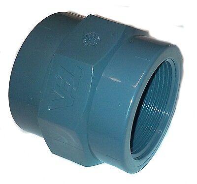 PVC Pipe GluexFemale Threaded FBSP Socket Solvent Weld 20 25 32 40 50 63 75 90mm