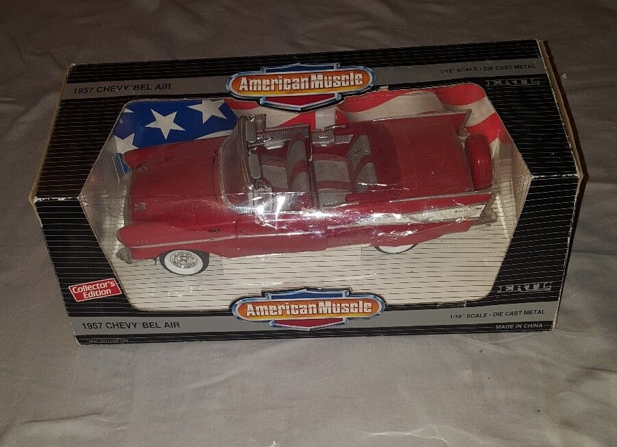 Ertl 1957 Chevrolet Bel Air Converdeible 1 18  American Muscle (rosso)