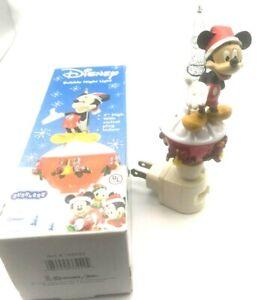 2006-Disney-Bubble-Night-Light-Mickey-Mouse-Christmas-7-034-High-Glitter-Christmas