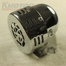 CHROME 12V CIVIL AIR RAID SIREN HORN TORNADO ALARM MOTOR DRIVEN POLICE FIRE NEW