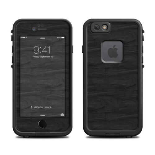 Skin for LifeProof FRE iPhone 66S Black Woodgrain Sticker Decal