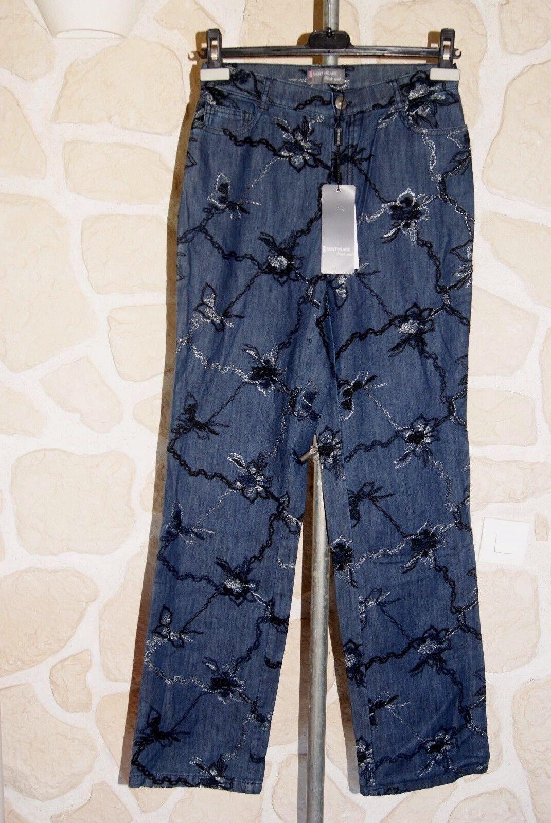 Jeans blu neuf Dimensione 36 marque Saint Hilaire étiqueté à