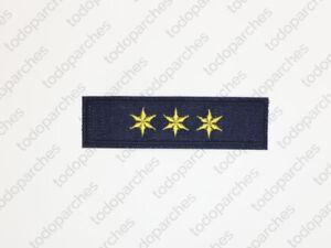 Parche-bordado-3-ESTRELLAS-6-PUNTAS-Capitan