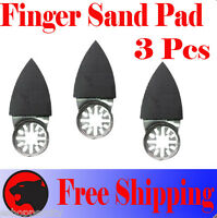 3 Pcs Oscillating Multi Tool Finger Sanding Pad For Makita Rockwell Hyperlock