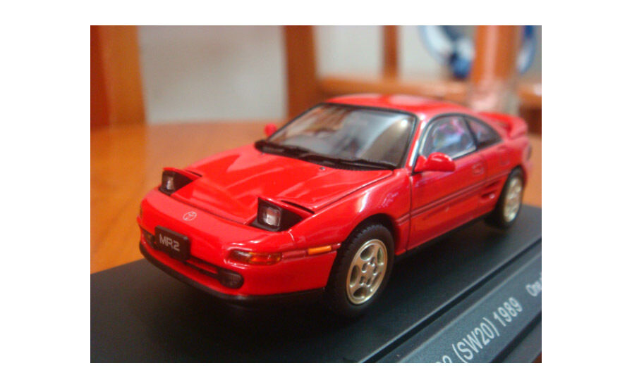 1 43 EBBRO Toyota MR-2 1989 Die Cast Model Red