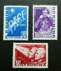 SJ-Romania-Space-1961-Rocket-Flight-Astronomy-Astronauts-stamp-MNH