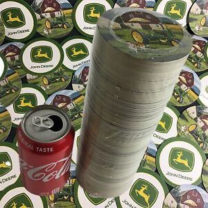John-Deere-Coasters-3-1-2-034-APPROX-250-Absorbent-Model-A-Tractor-Farm-Scene-amp-Dog