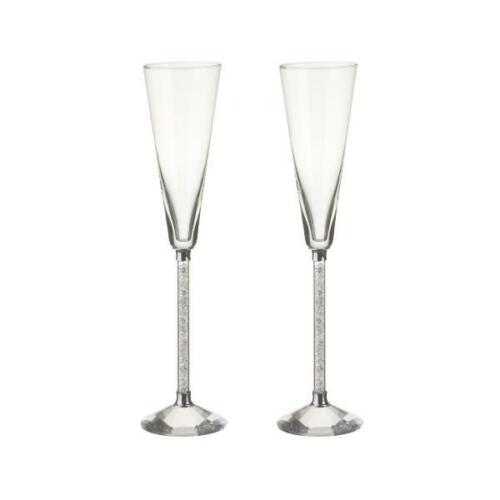 2er SET Champagnergläser, Sektgläser CASSINI DIAMONDS H. 27cm Paul Nagel