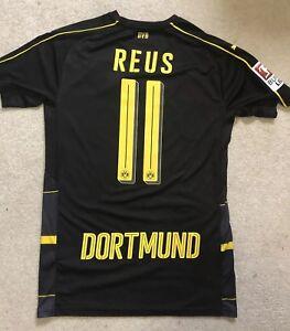 online store 3eff9 92cf6 Details about Black Marco Reus 2016/17 Dortmund Away Jersey Puma Adult Small