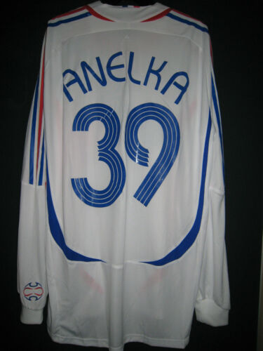 FRANCE National m 2007 FORMOTION Away Playerissue Longsleeve Shirt ANELKA