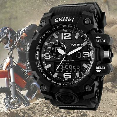 New SKMEI Watch Sport Quartz Wrist Men Mens Analog Digital Waterproof Military~~