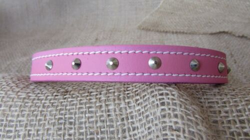 studded 14ins to 26ins long. Leather dog collars